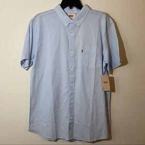 Levi's Men's Blue Button Down Collared Shirt
